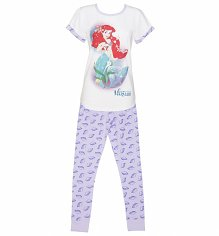 Ladies Disney Little Mermaid Shells Pyjamas
