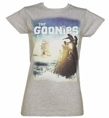 Ladies Goonies Pirate Ship T-Shirt