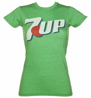 Ladies Green Classic 7-Up Logo T-Shirt