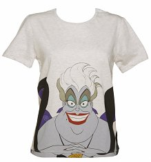 Women's Grey Marl Ursula Good Girl Little Mermaid Oversized T-Shirt from Eleven Paris