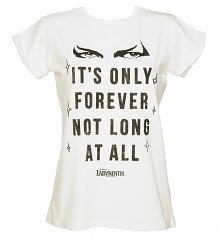 Ladies Labyrinth It's Only Forever Not Long At All Rolled Sleeve Boyfriend T-Shirt