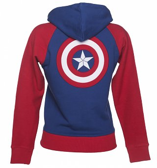 Ladies Marvel Comics Captain America Shield Logo hoodie
