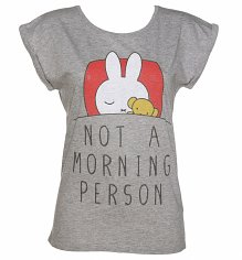 Ladies Miffy Not a Morning Person Rolled Sleeve Tunic T-Shirt