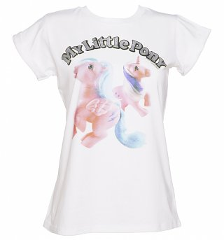 Ladies My Little Pony Glitter Logo Rolled Sleeve Boyfriend T-Shirt