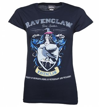Ladies Navy Harry Potter Ravenclaw Team Quidditch T-Shirt