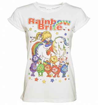 Ladies Rainbow Brite And Sprites Rolled Sleeve Boyfriend T-Shirt