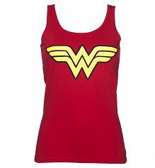 Ladies Red Wonder Woman Logo Vest