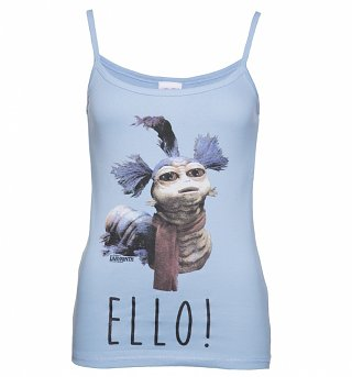 Women's Sky Blue Labyrinth Worm Ello Strappy Vest