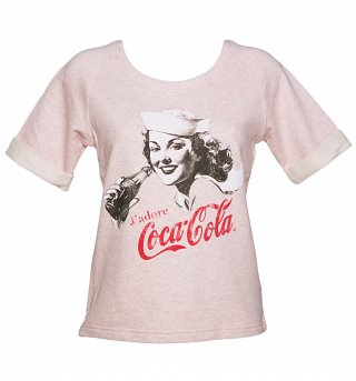 Women's Vintage J'Adore Coca-Cola Short Sleeved Sweatshirt