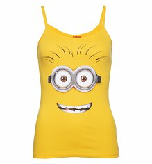 Ladies Yellow Dave Minion Strappy Vest