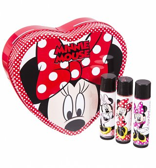 Lip Smacker Minnie Mouse Bow Tin with 3 Lip Balms