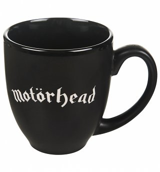 Matt Black Motorhead Engraved logo Mug