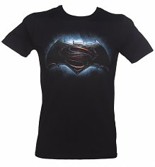 Men's Black Batman V Superman Logo T-Shirt
