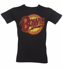 Men's Black David Bowie Diamond Dogs Logo T-Shirt