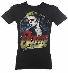 Men's Black David Bowie Smoking T-Shirt