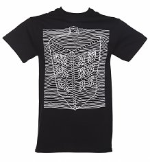 Men's Black Doctor Who TARDIS Wave T-Shirt
