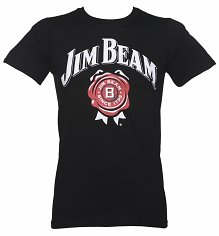 Men's Black Jim Beam Logo T-Shirt