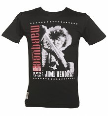 Men's Black Jimi Hendrix Marquee Club T-Shirt from Worn By