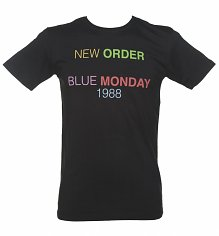 Men's Black New Order Blue Monday '88 T-Shirt from Worn By