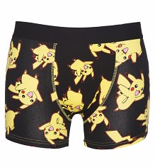 Men's Black Pikachu All Over Print Pokemon Boxer Shorts