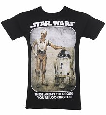 Men's Black These Aren't The Droids You're Looking For Star Wars T-Shirt