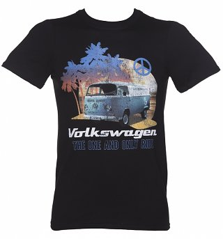 Men's Black Volkswagen Transporter Sunset T-Shirt