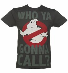 Men's Charcoal Who Ya Gonna Call Ghostbusters T-Shirt from For Love & Money