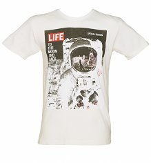 Men's Ecru Life Magazine Cover Moon Landing T-Shirt from Worn By