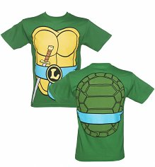 Men's Green Teenage Mutant Ninja Turtles Leonardo Costume T-Shirt