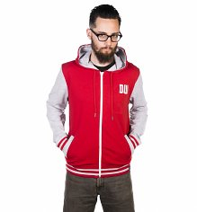 Men's Grey And Red Doctor Who Time Lord Varsity Hoodie