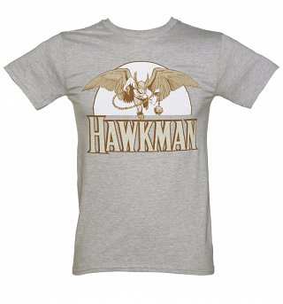 Men's Grey Marl Hawkman Flying T-Shirt