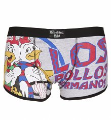 Men's Grey Marl Los Pollos Hermanos Breaking Bad Boxer Shorts