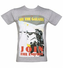 Men's Grey Marl Star Wars Stormtrooper Join The Empire T-Shirt