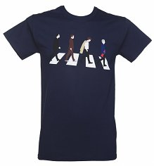 Men's Navy Doctor Who Timelords Abbey Road T-Shirt