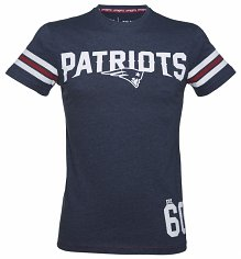 Men's Navy Marl New Jersey Patriots NFL T-Shirt
