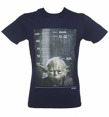 Men's Navy Star Wars Jedi Height Chart T-Shirt from Chunk