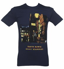 Men's Navy Ziggy Stardust David Bowie T-Shirt