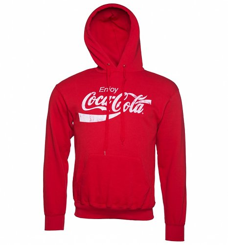 An image of Mens Red Enjoy Coca-Cola Hoodie