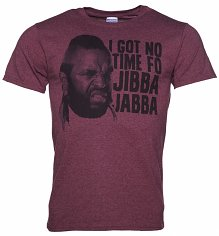 Men's Red Marl Mr T Jibba Jabba T-Shirt