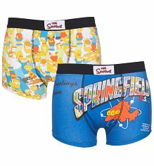 Men's Simpsons 2 Pack Boxer Shorts In Gift Box