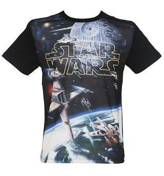 Men's Star Wars Spacescape Photo Print T-Shirt from Fabric Flavours