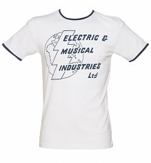 Men's White EMI Records Ringer T-Shirt from Worn By