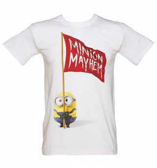 Men's White Minion Mayhem T-Shirt