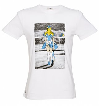 Men's White Pin Up Mash Up T-Shirt from Chunk