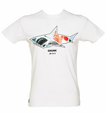 Men's White Shark Origami T-Shirt from Chunk