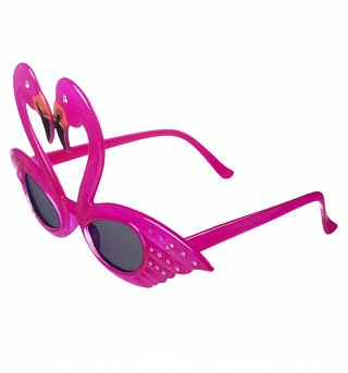 Novelty Pink Flamingo Sunglasses