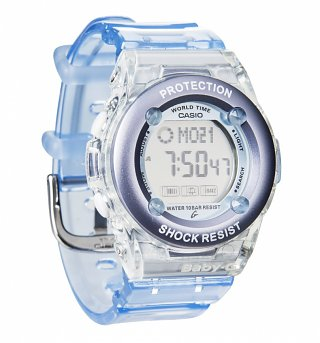 Pale Blue Baby-G Resin Strap Digital Watch BG-1302-2ER