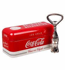Pause and Refresh Coca-Cola Bottle Opener In A Tin
