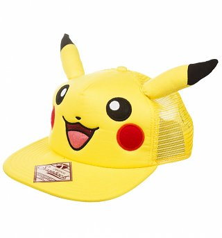 Pikachu Snap Back Baseball Cap With Ears
