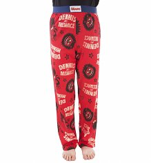 Red Dennis The Menace Beano Lounge Pants